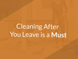 Clean your office when moving will prevent extra charges