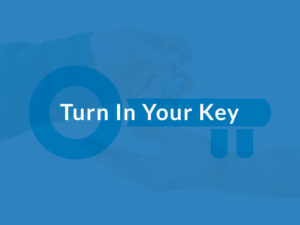 Turn your key in after you move everything out of your office