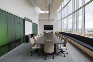 Board room with new office furniture